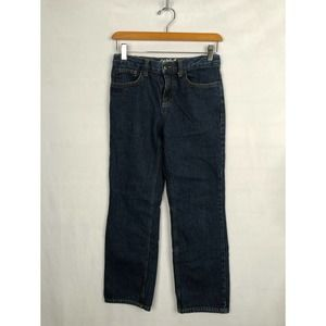 Cat & Jack Dark Blue Wash Jeans Relaxed Straight